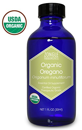 Zongle USDA Certified Organic Oregano Essential Oil, Safe to