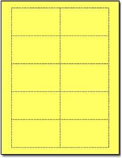 Amazon 80lb white blank business cards 100 sheets 1000 bright yellow 65lb business cards 25 sheets 250 business cards inkjet laser reheart Images