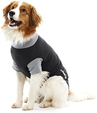 Buster Classic Body für Hunde, Größe S, Schwarz/Grau