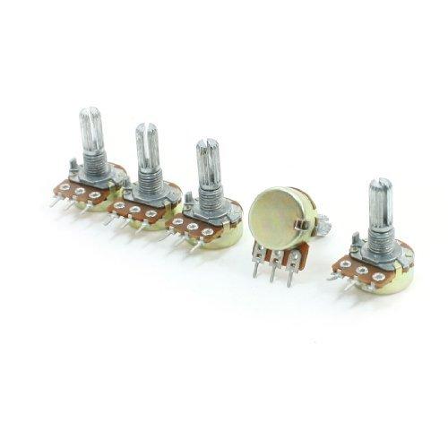 5pcs 2 M ohm 3 Pins Potten 6 mm Split Shaft Enkele Turn Potentiometer DealMux
