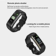 Onbio Fitness Tracker, Color Screen Bluetooth Smart Watch with Heart Rate Sleep Monitor Activity Tracker Waterproof Step Counter Pedometer Calorie Counter for Android iOS