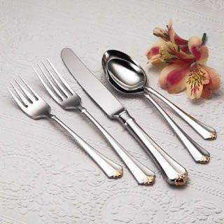 Juilliard Dinner Knife (Oneida Golden Juilliard 30-Piece Flatware Set, Service for 6)