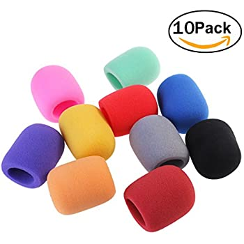 NUOLUX ch-musical01 Handheld Stage Microphone Windscreen Foam Cover, 10 Color