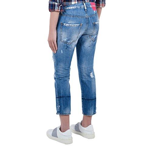 Jeans Femme S75LA0971S30309470 Bleu Dsquared2 Coton gqnIf