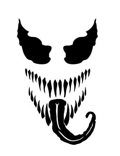 377c9e00a608cd Amazon.com: CCI Venom Spiderman Marvel Comics Decal Vinyl Sticker|Cars  Trucks Vans Walls Laptop|Black|5.5 x 3.0 in|CCI2039: Automotive