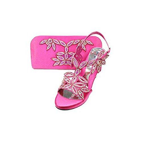 Walk Braut Frauen Plattform Abend mit Mode UK Sandale Wear Schuhe Komfort Hochzeit Diamante Tasche Damen Passender HqFAHd