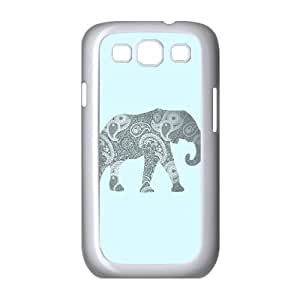 Samsung Galaxy S3 9300 Cell Phone Case White Paisley Elephant Eppe