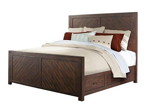 Cambridge 98127BQU-WA Montana Queen Storage Bed, Walnut