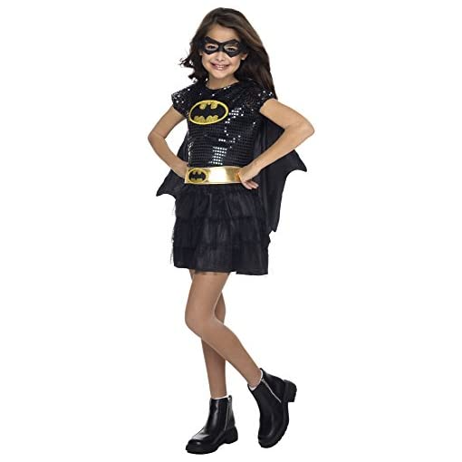 Rubie's Costume DC Superheroes Batgirl Sequin Dress Child Costume, Toddler