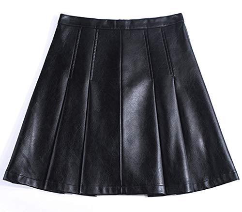 E PU Club Mini Ajoure Noir Taille Jupe Grande FS7807 Girl Cuir zI6frz