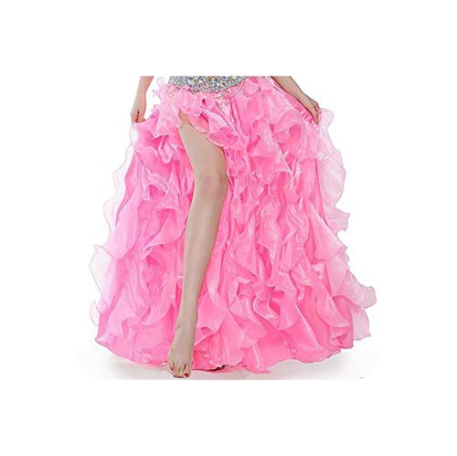 Dance Costumes Sexy Women Belly Dance Stage Skirt for Ladies Belly Dance Skirts,Pink,M 90Cm -