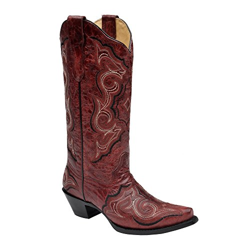 Corral Women's E1006 Red & Black Embroidered Western Boot...