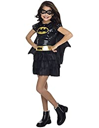 Rubies Costume DC Superheroes Batgirl Sequin Dress Child Costume, Small