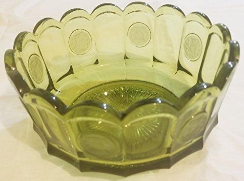 Fostoria Bicentennial Green Coin Bowl