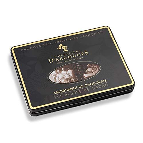 Chevaliers D Argouges Assortiment De Chocolats Noir Lait Blanc Coffret Cadeau Prestige édition Noël 300g