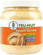 Tru-Nut Powdered Peanut Butter (71 Servings, 30 oz Jar) Good Source of Plant Protein – Gluten Free, Vegan, Non-GMO - Original Flavor