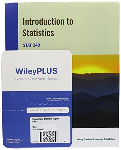 (Introductory Statistics, 8e for University of Massachusetts Amherst with WileyPLUS Card Set by Prem S. Mann (2014-08-18))
