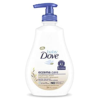 Baby Dove Soothing Wash To Soothe Delicate Baby Skin Eczema Care Washes Away Bacteria, No Artificial Perfume or Color, Paraben Free, Phthalate Free 13 oz