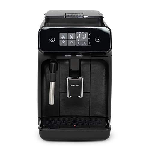 Philips Carina 1200-Series Compact Super-Automatic All-In-One Programmable Espresso Machine w/Panarello Steam Wand - EP1220/04