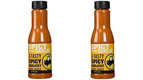 (Buffalo Wild Wings Barbecue Sauces, Spices, Seasonings and Rubs For: Meat, Ribs, Rib, Chicken, Pork, Steak, Wings, Turkey, Barbecue, Smoker, Crock-Pot, Oven (Spicy Garlic, (2) Pack))