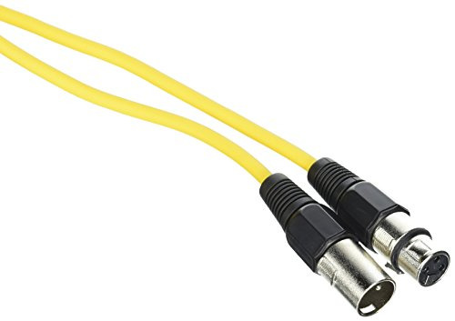 SEISMIC AUDIO - SAXLX-100 - 6 Pack of 100' Yellow XLR Male to XLR Female Microphone Cables - Balanced - 100 Foot Patch Cords by Seismic Audio