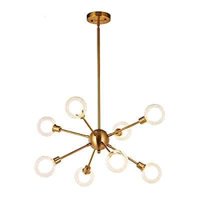 Sputnik Chandelier Lighting modern Pendant Ceiling Light Fixture By BONLICHT