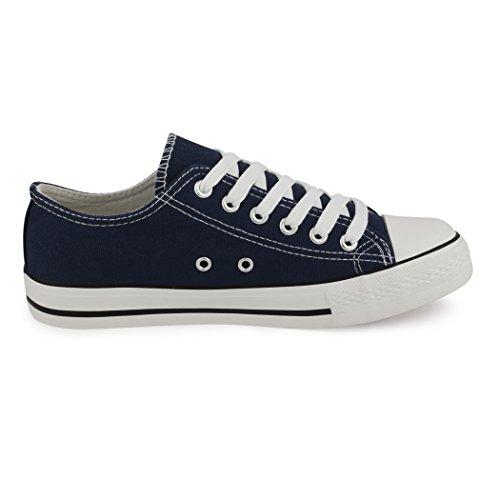Best-botas para mujer zapatilla zapatillas zapatos de cordones estilo deportivo Blu (New Navy Blue)