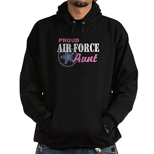 CafePress Proud Air Force Aunt Pullover Hoodie, Classic & Comfortable Hooded Sweatshirt Black