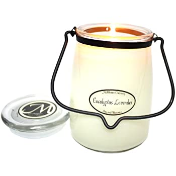 Milkhouse Candle Creamery Scented Soy Candle: Butter Jar Candle, Eucalyptus Lavender, 22-Ounce
