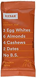 Rx Bar Protein Bar, Pumpkin Spice, 1.83 Oz (12 Count)