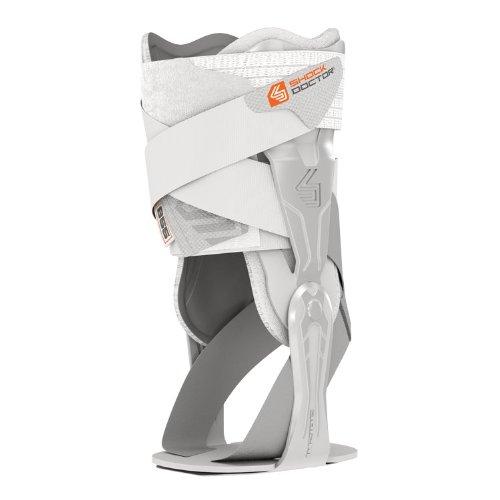 (Shock Doctor V-Flex Ankle XT Brace for Right Ankle, White, Large)