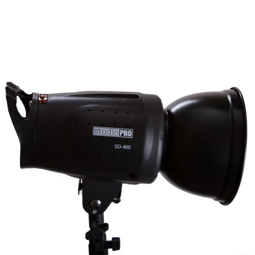 Fovitec StudioPRO 400 Watt SD-400 Monolight Flash Strobe Light with S-type Bowens Style Mount and 7'' Standard S-type Bowens Reflector, modeling lamp, for Portrait Location Photography Studio lighting by Fovitec