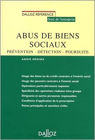 Amazon Fr Abus De Biens Sociaux Prevention Detection