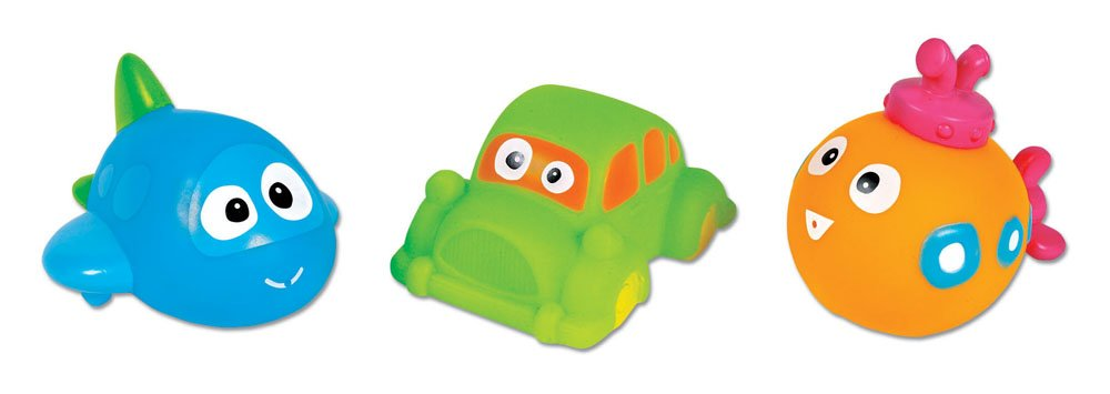 Vroom-Vroom Squeezy-Squirters Small World Toys All About Baby Infant Set of 3 Orda USA 3701224