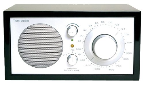 Tivoli Audio Platinum Series Model One AM/FM Table Radio, Piano Black/Silver (Discontinued by Manufacturer) ()