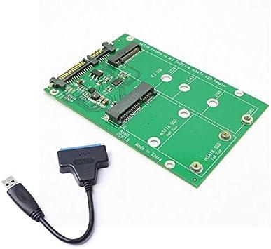 USB 3.0 7 + 15 Pin Disco Duro a Msata y Ngff M.2 Ssd 2 En 1 ...
