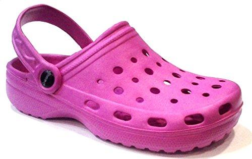 DEMA pantofole ciabatte donna in GOMMA mod. CROCS fuxia