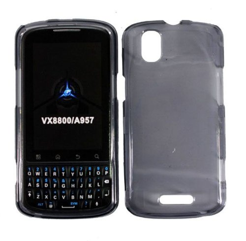 Clear Gray Smoke Hard Cover Case for Motorola Droid Pro A957 XT610 Milestone Plus