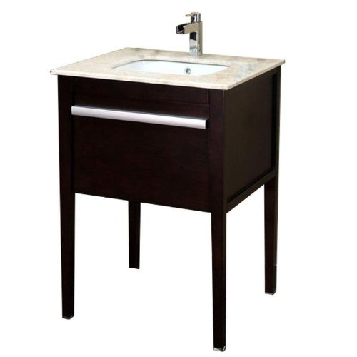 Bellaterra Home 203117 26-Inch Single Sink Vanity, Wood, Dark Mahogany ()