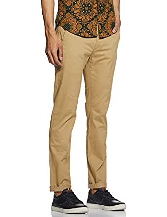Levi's Men's Slim Fit Casual Trousers (74713-0000_Beige_34W x 32L)