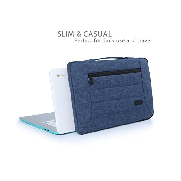 ProCase-14-156-Inch-Laptop-Sleeve-Case-Cover-Bag-for-MacBook-Pro-Most-14-15-Inch-Laptop-Ultrabook-Notebook-Chromebook-Lenovo-Dell-Toshiba-HP-Asus-Acer-Navy-Blue