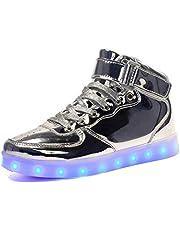 Voovix Kids LED schoenen oplichten schoenen High-top Sneakers voor jongens en meisjes