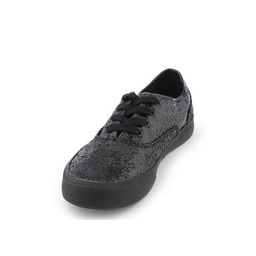 Shiekh Womens A-XG0032 Casual Sneaker Black Glitter/Black PU nxySci
