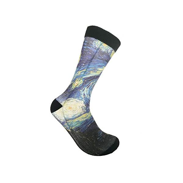 Unisex Fun Novelty Crazy Crew Socks Book Sloth In Glasses Dress Socks -