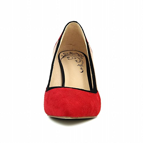 Mee Shoes Women's Charm Pointed Toe Slip On Stiletto High Heel Court Shoes Red rxQIBpCSk