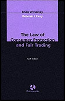 Book The Law of Consumer Protection and Fair Trading
