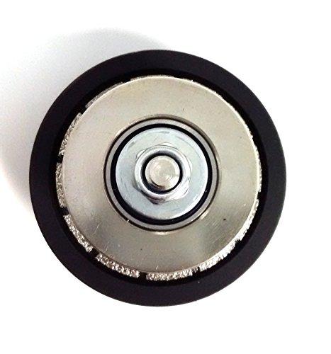[해외]1 4 인치 E 베벨 다이아몬드 핸드 프로파일 러 라우터 비트 프로필 휠 - 화강암, Terrazo, 대리석 용 고무 브레이징 프로파일 비트 - 고무 보호 장치 - 5/1 4-Inch E Bevel Diamond Hand Profiler   Router Bit   Profile Wheel - Vacuum Brazed Pro...