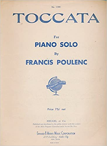 ;NEW; Toccata : For Piano Solo By Francis Poulenc (1942 Sheet Music). marzo FALSE former joining passed color