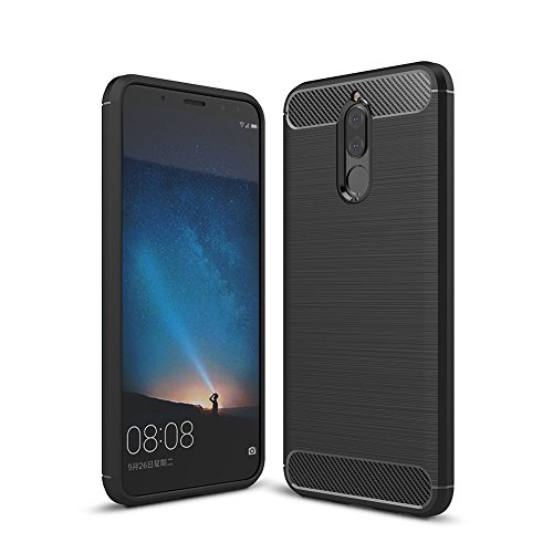 TopACE Huawei Mate 10 Lite case, Durable Slim Armour Protective Soft Back  Case Cover for Huawei Mate 10 Lite Smartphone (Black)