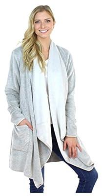 Sleepyheads Fleece Wrap Robe with Pockets, Long Sleeve Cardigan